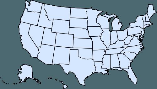 Usa Outline Blue Ability Job Fair